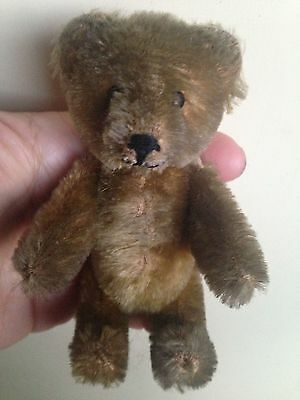 "Rare Miniature 5"" Vintage Schuco Mohair Perfume Bottle Bear Nice No Res Buy Now"