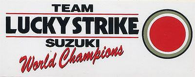 Team Lucky Strike Suzuki White Sticker