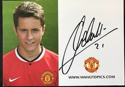 Signed Ander Herrera Official Photo Club Card Manchester United Football