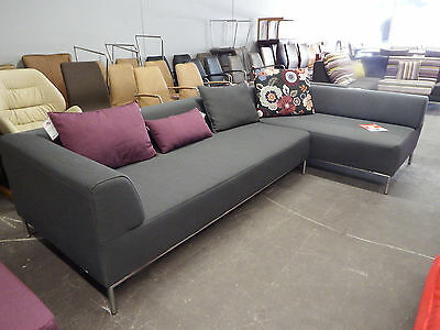 rolf benz sofa alcantara leder beige 2 teilig 247cm x. Black Bedroom Furniture Sets. Home Design Ideas
