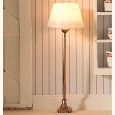 1/12Th Scale Dolls House Standard Lamp With Classic Brass Base