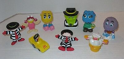 LOT OF 9 VINTAGE McDonald's Characters Happy Meal Toys ~ Hamburgler Fry Guys