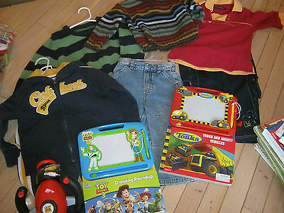 Lot Of Boys Clothes Size 2/3 Old Navy, Please Mum Plus 2 Drawing Books