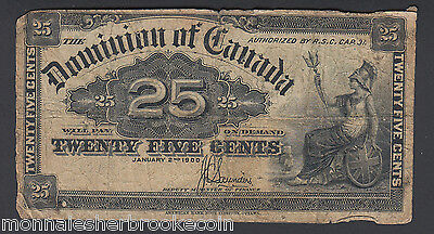 1900  25 Cents Shinplaster - J.C. Saunders - Dominion of Canada - B506