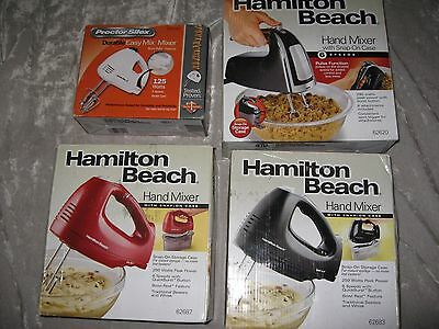 Electric Hand Mixer 5-6 Speed Beaters Storage Case Kitchen Appliance NEW!