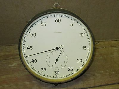 "VINTAGE JUNGHANS WIND UP DARKROOM TIMER / STOP WATCH, 8.25"" Diameter, WORKS!"