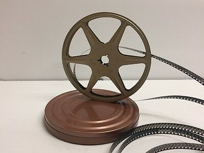"Vintage Scherer Super 8mm 5"" 200ft. Metal Film Reel Gold + Can Copper"