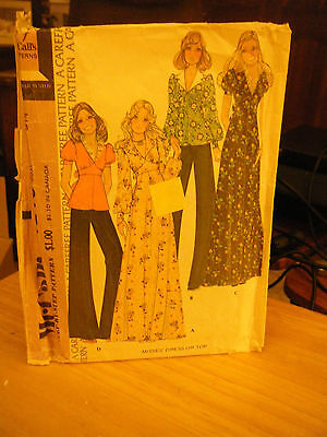 McCall's 4140 Misses Dress or Top Pattern - Size 8 Bust 31 1/2