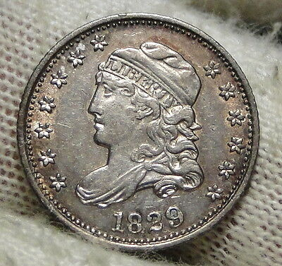 1829 Capped Bust Half Dime H10C 5 Cents - Nice Old Coin, Free Shipping  (5643)