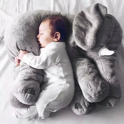Stuffed Animal Cushion Kid Baby Sleeping Soft Pillow Toy Cute Elephant Cotton XD