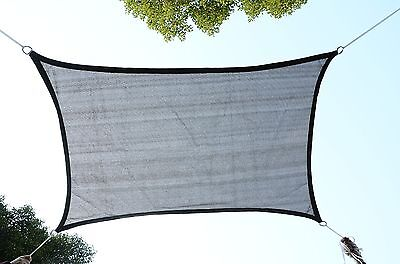 Outsunny 12' Square Sun Shade Sail Outdoor Yard Garden Patio Top Cove -Rust Red