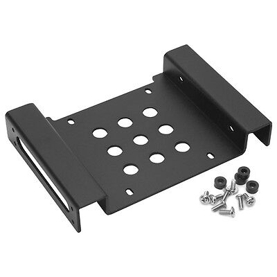 """Aluminum 5.25""""to 2.5""""/3.5"""" Hard Disk Drive Holder HDD SSD Mounting Bracket Kit"""