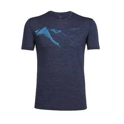 Icebreaker Tech Lite SS Crewe Graphic wellington in awe fathom heather T-Shirt