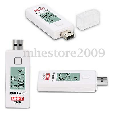 UNIT UT658 Digital USB Tester LCD Display Charger Current Voltage Capacity Power