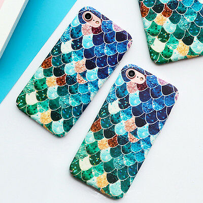 Fashion Mermaid Fish Scale Resistant Hard PC Case Cover For iPhone 6/6s/7/8 plus