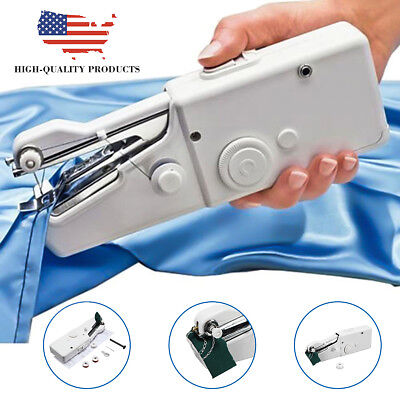 Portable Mini Electric Handheld Sewing Machine Handy Home Household Stitch DIY