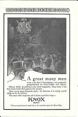 Old Knox Hats A Great Many Men Ad