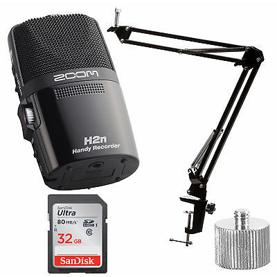 Zoom H2N Handy Recorder Digital Audio with Knox Boom Arm & Memory Card