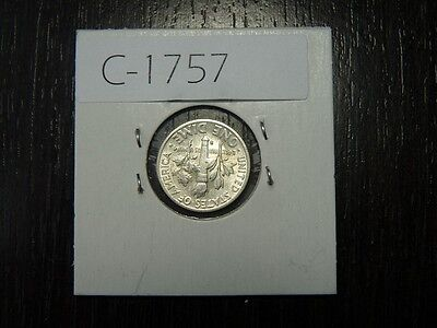 Vintage Usa 1951 S 10 Cent Silver High  Quality     C1757