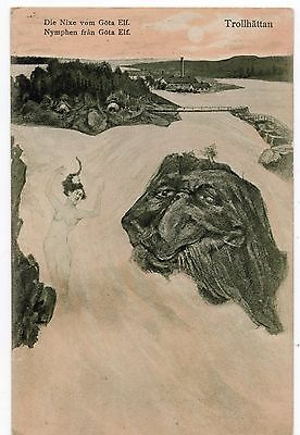 A4353 Mountain and River faces, Trollhattan, Nymphs