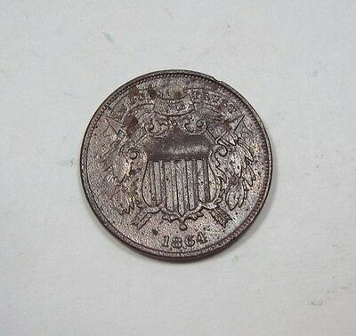 BARGAIN 1864 SMALL Motto Two-Cent Piece  EXTRA FINE 2-Cents