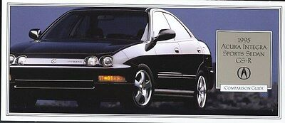 1995 Acura Integra Sports Sedan GSR Comparison Guide Brochure my8326