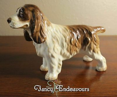 Alton China? England Pottery Porcelain Springer Spaniel Dog Figurine