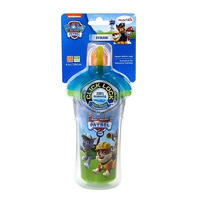 Munchkin PAW Patrol Click Lock 9oz Insulated Straw Cup