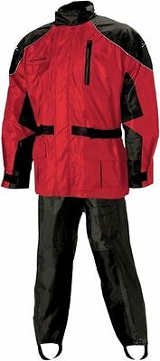 Nelson Rigg Aston Motorcycle Rain Suit Black/Red Adult Sizes