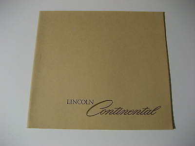 1978 Lincoln Continental Dealer Sales Brochure