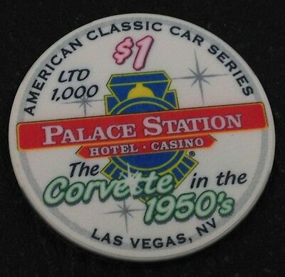 Palace Station $1 Casino Chip Las Vegas Nevada ChipCo. 2002 FREE SHIPPING