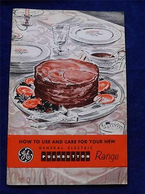 General Electric Push Button Range Instruction Manual Use & Care French/english