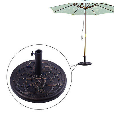 Outsunny Patio Round Umbrella Stand Base Coated Pole Market Bronze