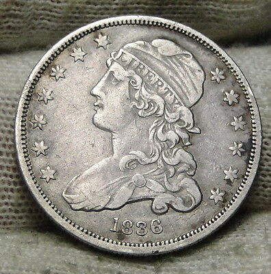 1836 Capped Bust Quarter 25 Cents -  Rare Key Date only 472,000 minted. (5846)