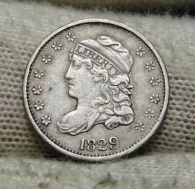 1829 Capped Bust Half Dime H10C 5 Cents - Nice Old Coin, Free Shipping  (5901)