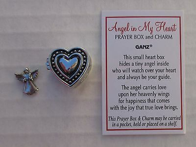 a Angel in my Heart Prayer box POCKET miniature CHARM love sympathy ganz memory