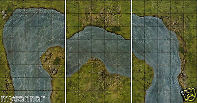 DUNGEONS & DRAGONS RIVER SYSTEM SET 5 Gamemastery D&D Pathfinder Map on