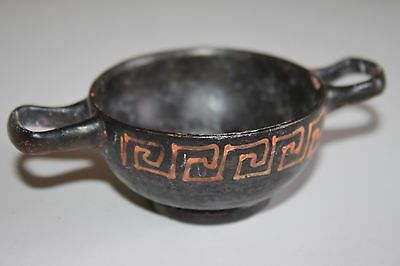 QUALITY ANCIENT GREEK POTTERY XENON KYLIX 4th BC  WINE CUP