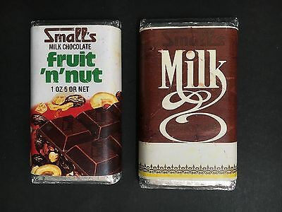 SMALLS LOT OF 2 1960's SMALL DUMMY BLOCKS MILK CHOCOLATE & FRUIT 'N' NUT