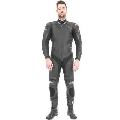 RST 1067 R-16 Motorcycle Motorbike Leather Armoured One Piece Suit - Black