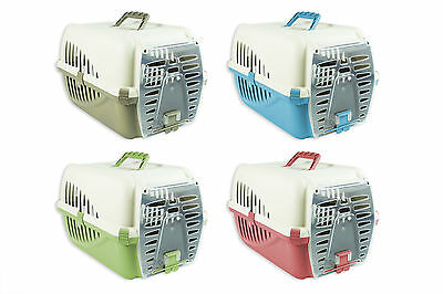 Pet Carrier Cage Cat Kitten Puppy Rabbit Travel Transport Vet Comfort Training