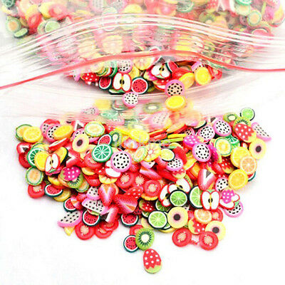1000x Nail Art Mix Design Slices Polymer Clay Stickers Decoration Manicure New
