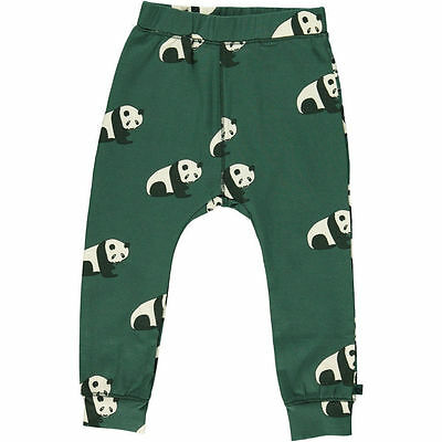 BNWT Smafolk Boys Girls Hunter Green Panda Relaxed Fit Leggings NEW trousers