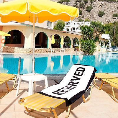 Reserved Holiday Beach Towel - Grab That Sun Lounger! Large Cotton Towel