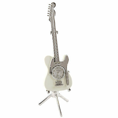 Electric Guitar Miniature Desk Novelty Clock Gift    NEW   15118