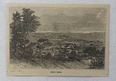 1880 magazine engraving ~ HONG KONG, China