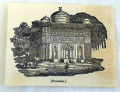 1832 small magazine engraving ~ FOUNTAIN ~ CONSTANTINOPLE