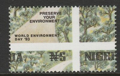 Nigeria 2687 - 1993 WORLD ENVIRONMENT DAY  MISPLACED  PERFS  unmounted mint