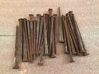 One Pound Rusty Steel Square Cut Nails 4 inch