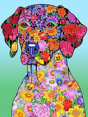 Garden Indoor/Outdoor Flowers (TP) Flag - German Shorthair Pointer 960491